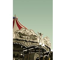 Vintage carousel ride Photographic Print