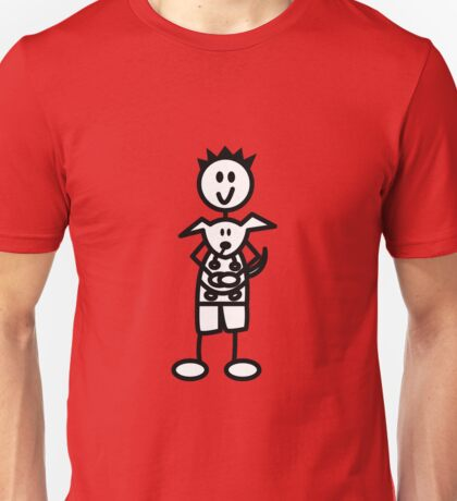 The boy with the spiky hair - red Unisex T-Shirt