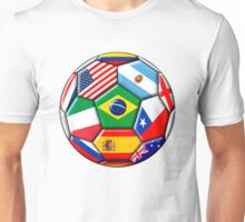 Brazil 2014 - soccer with various flags Unisex T-Shirt