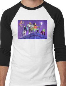 teen titans go! - serious (colour) Men's Baseball ¾ T-Shirt