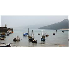 Sea Mist over St Ives Harbour Photographic Print