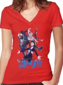 Yoi[hd] Women's Fitted V-Neck T-Shirt