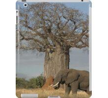 Africa's Icons - Baobab Tree, Termite Mound & Grey Elephant iPad Case/Skin