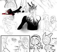 Hannibal sketches 1 by Furiarossa