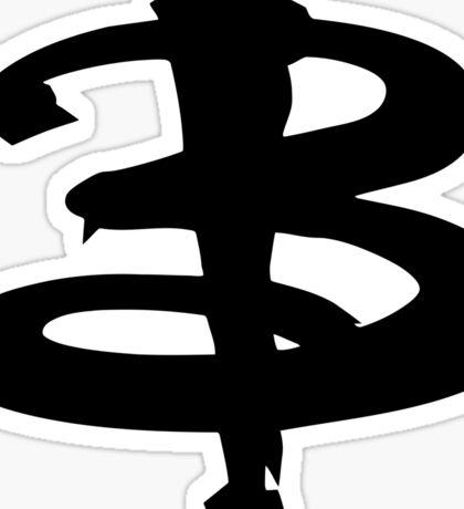 Buffy black Sticker