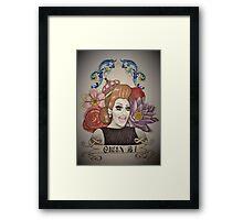 Drawing of Bianca Del Rio Framed Print