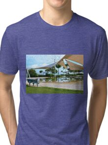 Early Morning Reflections - Lagoon, Airlie Beach, Australia Tri-blend T-Shirt