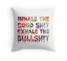 Inhale Throw Pillow