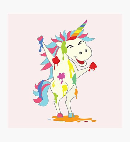 Crazy Unicorn - Wild Happiness Photographic Print