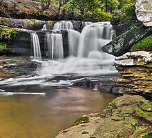 Dunloup Creek Falls by Kenneth Keifer