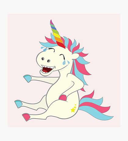 Crazy Unicorn - Hilarious Edition Photographic Print