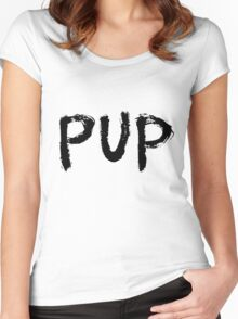 PUP Graffiti Logo Women's Fitted Scoop T-Shirt