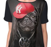 The Pug Life - MC Beastie Chiffon Top
