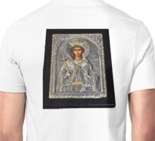 BYZANTINE ICON STERLING SILVER AND GOLD Unisex T-Shirt