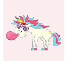 Crazy Unicorn - Blowing Bubbles Photographic Print