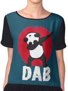 DAB PANDA keep calm and dab dabber dance football touch down Chiffon Top