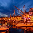 Port of Sanary-sur-Mer in the evening, Var, France by 7horses
