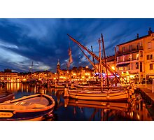 Port of Sanary-sur-Mer in the evening, Var, France Photographic Print