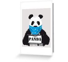 Pabda bär gesucht zeichnung fell schwarz-weiß by cent Greeting Card