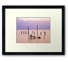 Bathing in the colors of sunset Framed Print
