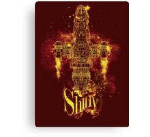 shiny spaceship Canvas Print