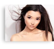 Young asian woman anime style beauty portrait art photo print Canvas Print