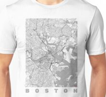 Boston Map Line Unisex T-Shirt