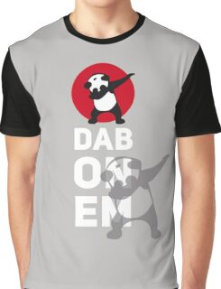 DAB PANDA dab on em dabber dance football touch down red Graphic T-Shirt
