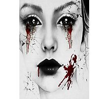 Bloody Girl Photographic Print