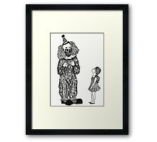 Mr. Teeth, The Smiling Clown Framed Print