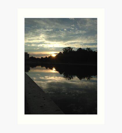 Sunset in Washington D.C. Art Print