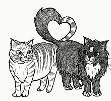 Cats in Love by BettyRocksteady