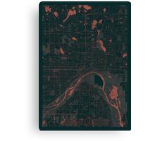 St Paul Map Red Canvas Print