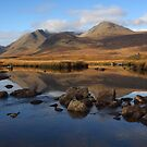 Rannoch Moor and the Black Mount in Autumn. by John Cameron