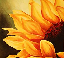 Cropped Sunflower by Tiffany Budd