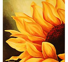 Cropped Sunflower Photographic Print
