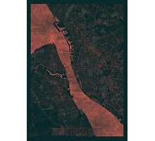 Liverpool Map Red Photographic Print