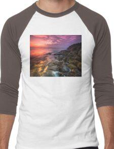 Giant's Causeway  Co Antrim  Northern Ireland Men's Baseball ¾ T-Shirt