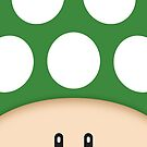 Green 1UP Mushroom by mechantefille