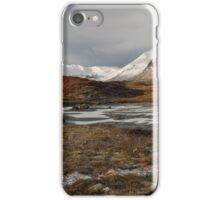 Rannoch Moor and the Black Mount in winter. iPhone Case/Skin