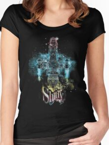 shiny space ship Women's Fitted Scoop T-Shirt