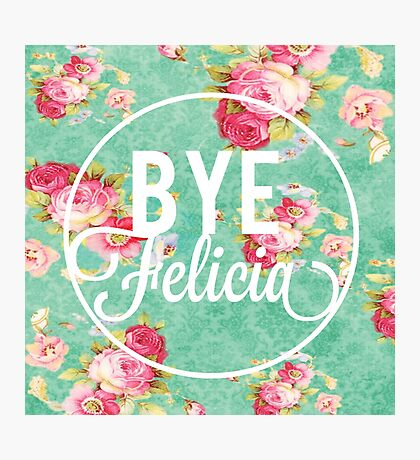 Vintage Fabric Floral Bye Felicia Photographic Print