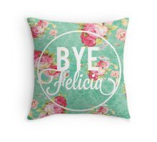 Vintage Fabric Floral Bye Felicia Throw Pillow