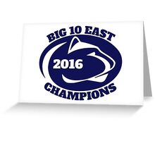 Penn State Football Big Ten East Champions Greeting Card