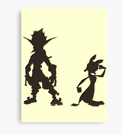 Jak and Daxter: The Precursor Legacy Silhouette Canvas Print