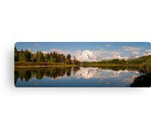 Mount Moran On Oxbow Bend Panorama Canvas Print