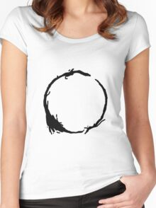 Arrival Movie Circle Language 4 Women's Fitted Scoop T-Shirt