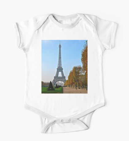 Eiffel Tower in Autumn One Piece - Short Sleeve