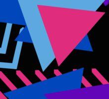 Purple, Blue, Pink and Black Triangle Pattern  Sticker