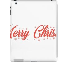 Merry Christmas comment iPad Case/Skin